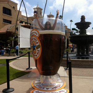 Cool down with a picture of you in a glass of cold Newcastle Brown Ale.
