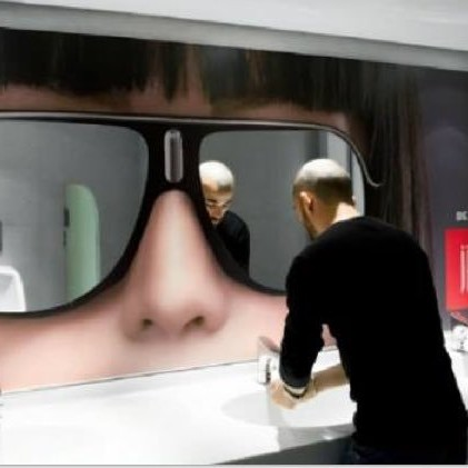 Bathroom Wall Graphic Ad – No problem.