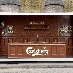 If Carlsberg did chocolate. An Easter campaign: a pop up bar made entirely of chocolate.