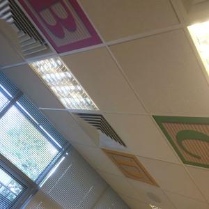 Johnson & Johnson Interior Branding – Celing Tiles