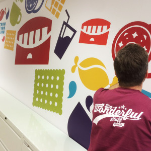 New Brand Graphics for Mondelez HQ