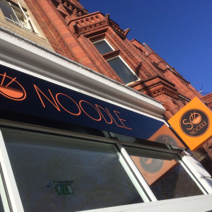 So Noodle New Shop Front Signage