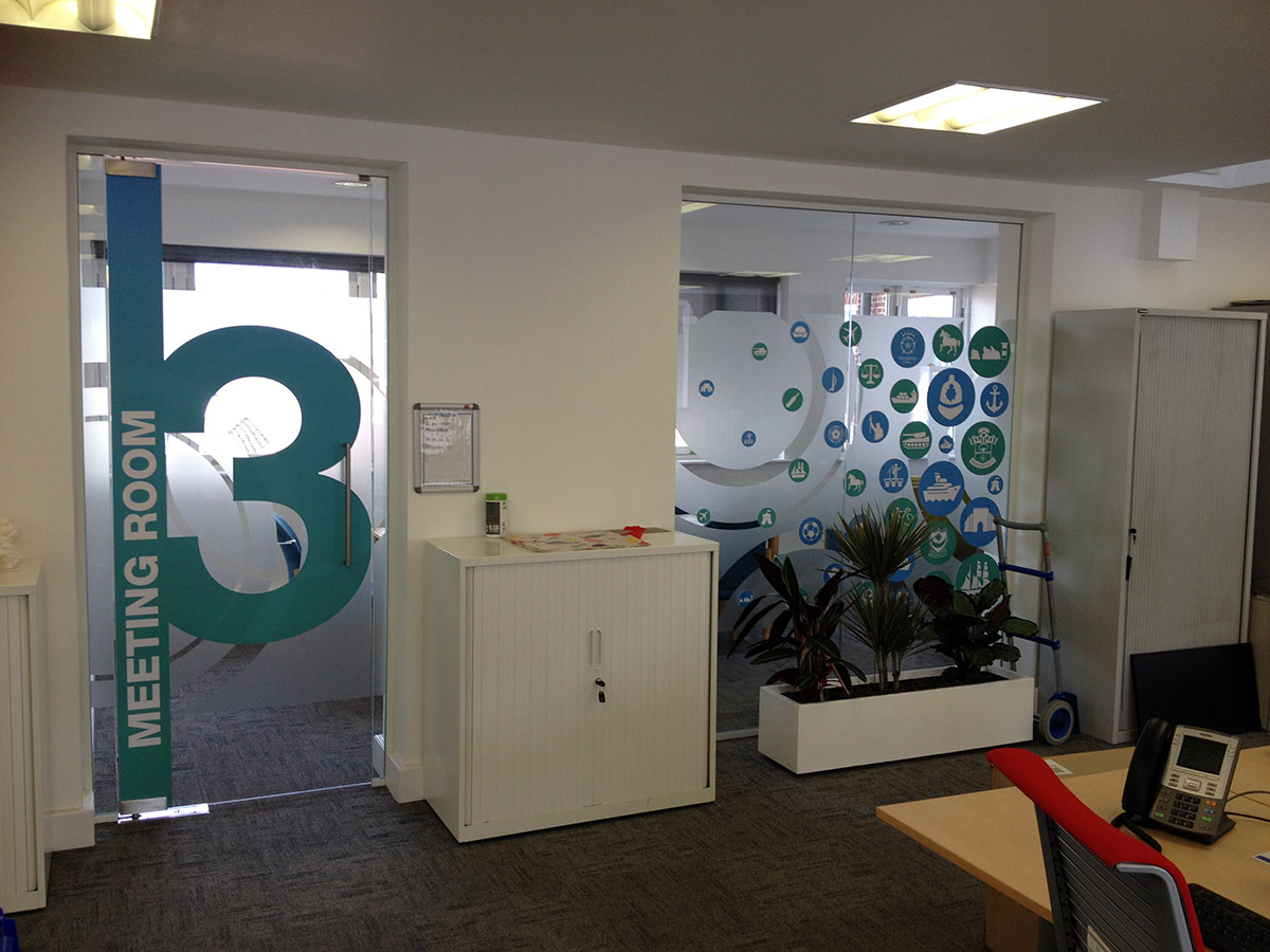 Interior Graphics For Glazed Office Case Study Bigstuff
