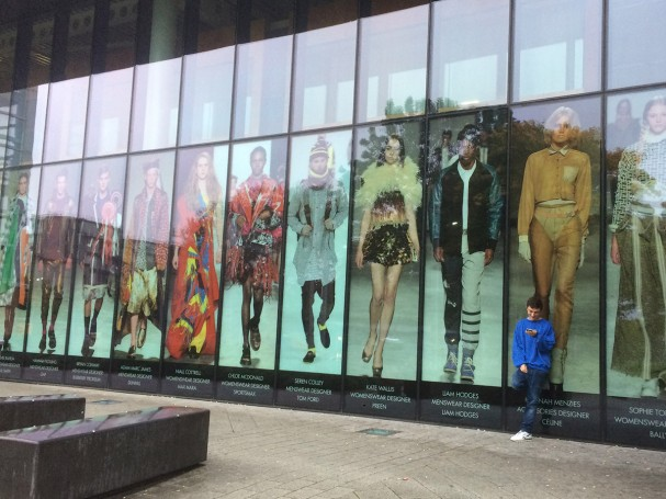 University of Westminster exhibition window graphics installation
