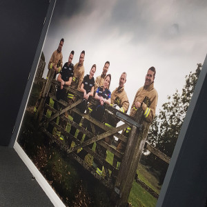 Internal printed wallpaper at Police and Fire HQ in Eastleigh Hampshire
