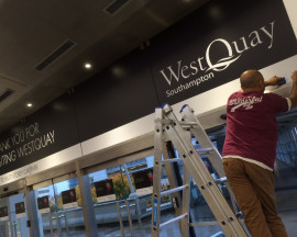 Installing WestQuay & Ikea Visitor Signage