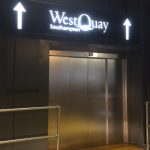 WestQuay & Ikea Visitor Signage for elevator