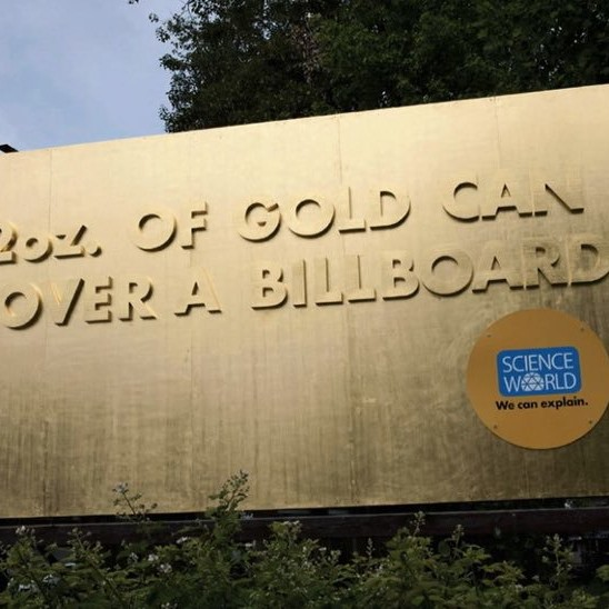 Gold Billboard. Just 2oz of gold. Really?
