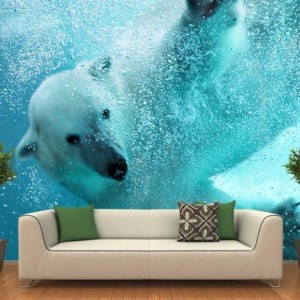 Polar Bear Wall Graphic – Yes we can do things like this.