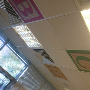 Johnson & Johnson Interior Branding – Celing Tiles