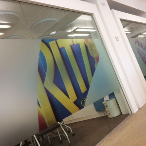 Mondelez Office Branding on glass partitions