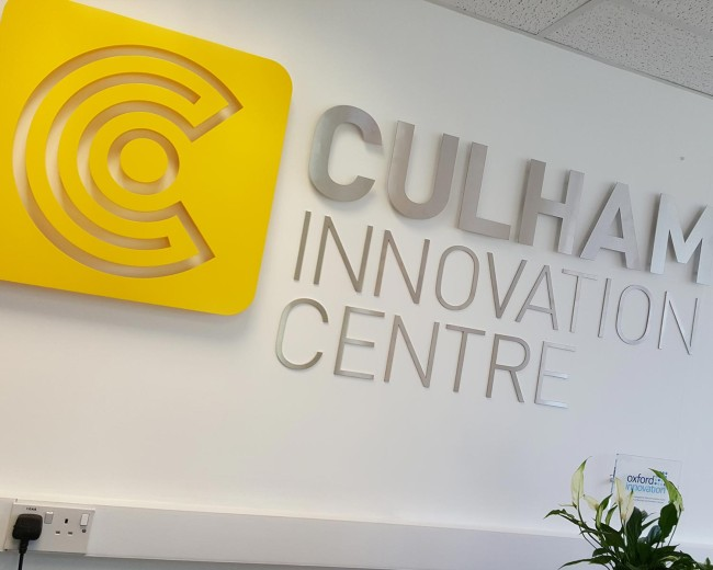 New reception signage at Culhham Innovation Centre