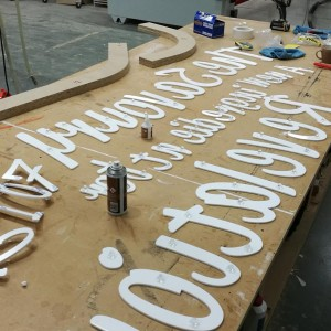 Jardox Exhibition Stand Design Preparing Cutout Letters