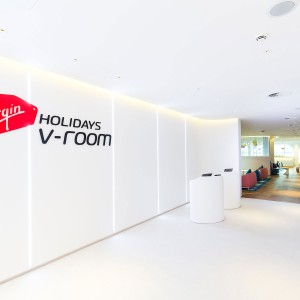 Interior Signage for Virgin reception desk