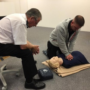 First aid training at Bigstuff