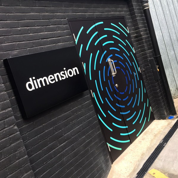 Club entrance signage  – smaller large format print jobs by BigStuff