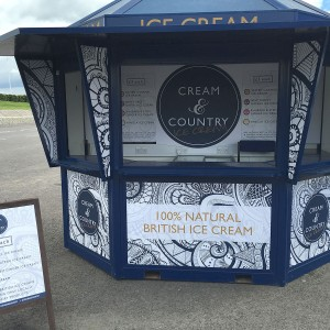 Ice cream booth – smaller large format print jobs by BigStuff