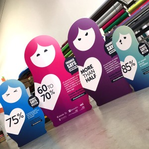 Cardboard standees – smaller large format print jobs by BigStuff