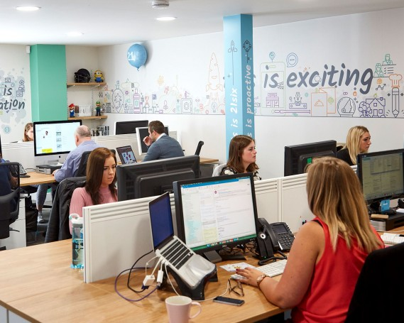 Inspirational workspace branding – Hampshire
