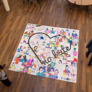 9m2 Giant jigsaw puzzle for PCC No Place for Hate Crime Event