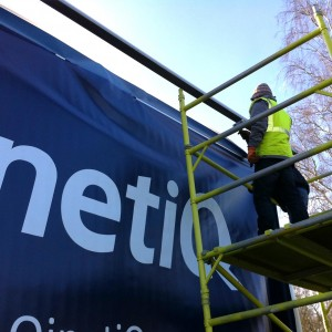Qinetiq new spiritflex system replacing old 48 sheet billboard