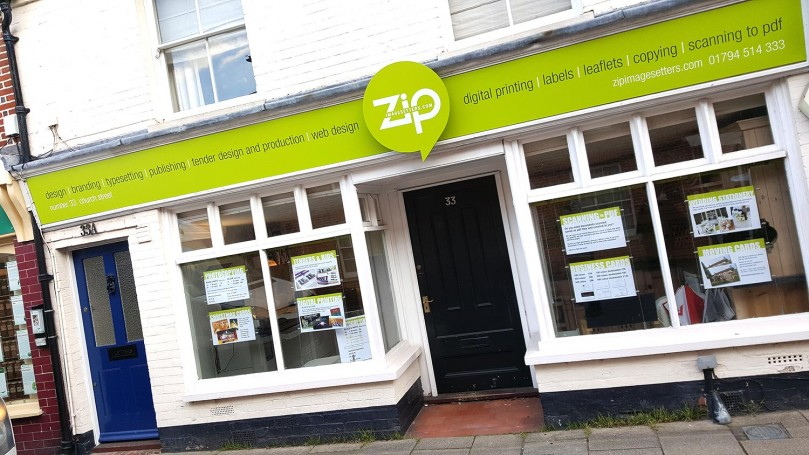 Zip Imagesetters new shop front signage