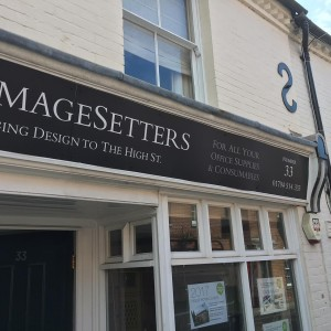 Zip Imagesetters old shop front signage before replacement