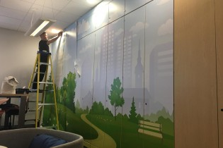 Vinyl Office Furniture Wrap